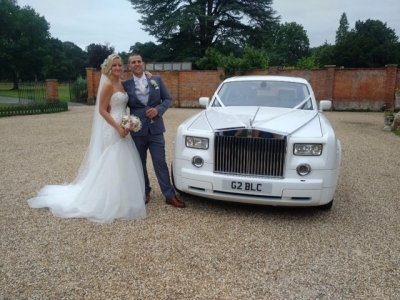 White Rolls Royce Wedding Car - Platinum Cars