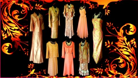 Wedding Outfits in Orange & Gold