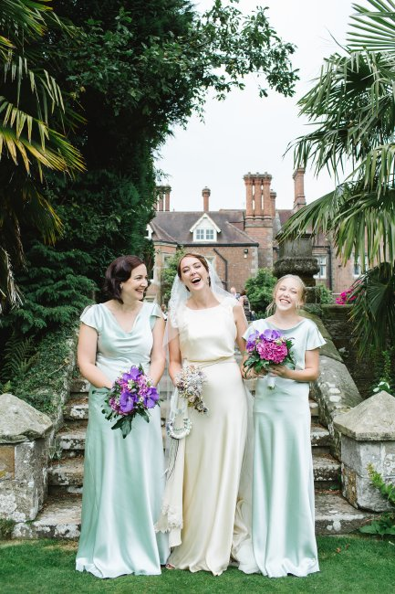 Art Deco style wedding dress and bridesmaids for Katherine
