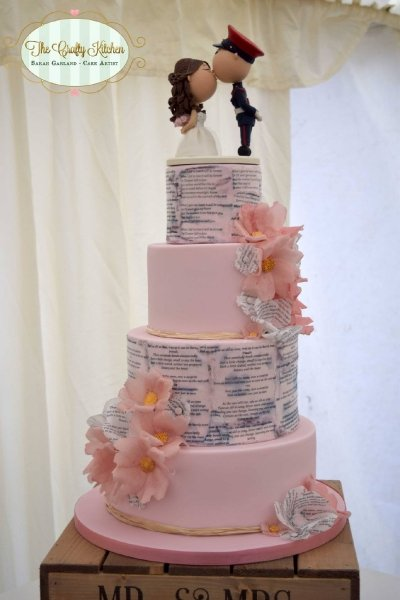 Romantic Wedding Cake - The Crafty Kitchen