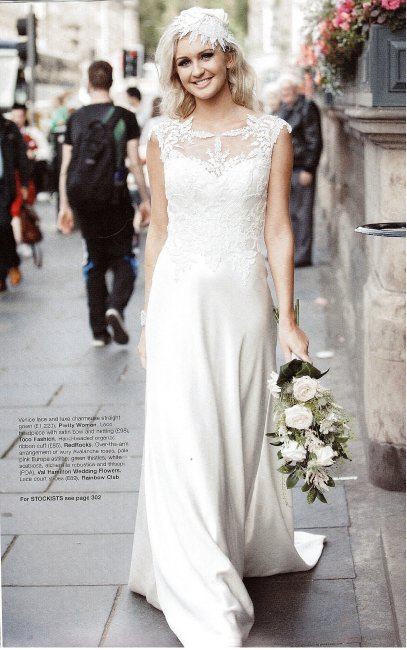 Ivory lace headpiece for bride on SWDmagazine - Tocofashion