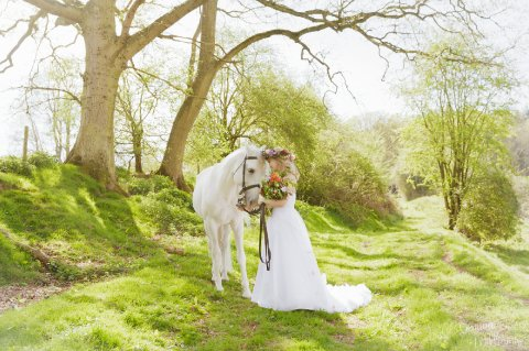 Wedding Arrival on Horseback for Brides from The Cavalry of Heroes - The Cavalry of Heroes - Horses and Carriages