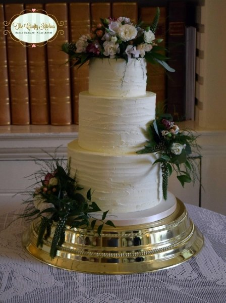 Buttercream Wedding Cake - The Crafty Kitchen