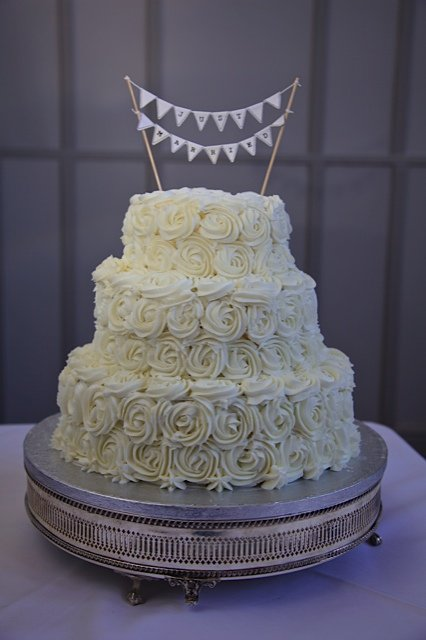 Red velvet and Buttercream Wedding Cake