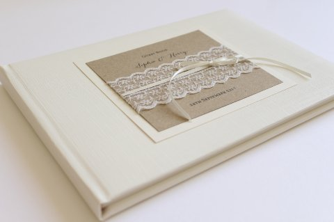 Lace Guest Book - The Whole Caboodle Design Ltd