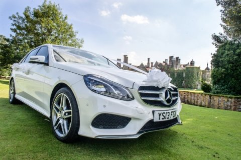 White mercedes benz Wedding Car - Platinum Cars