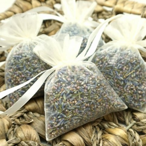 Lavender & Heather in Individual Portion Organza Bags - The Dried Petal Company