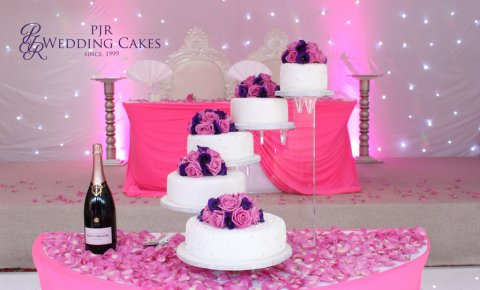 One of a kind 5 tier wedding cake stands - PJR Wedding Cakes