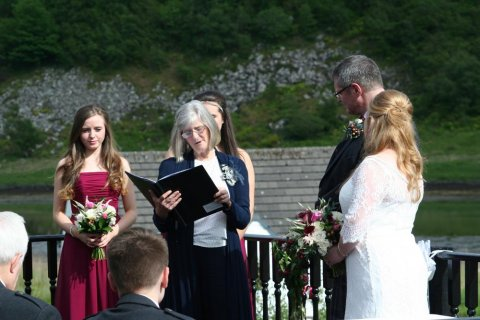 A ceremony on our Sundeck - The Galley of Lorne Inn
