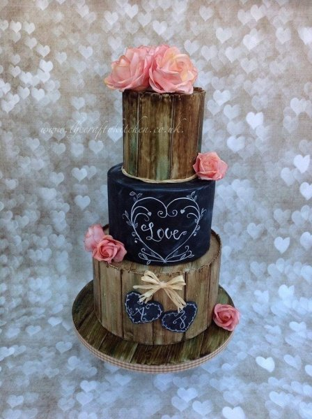 Rustic Chalkboard Wedding Cake - The Crafty Kitchen