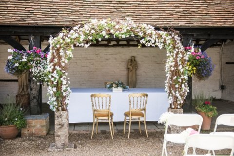 Flower Arch - Lillibrooke Manor & Barns
