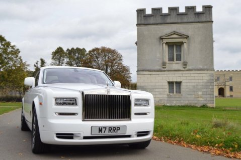 Luxury White Series 2 Rolls Royce Phantom Wedding Car - Platinum Cars
