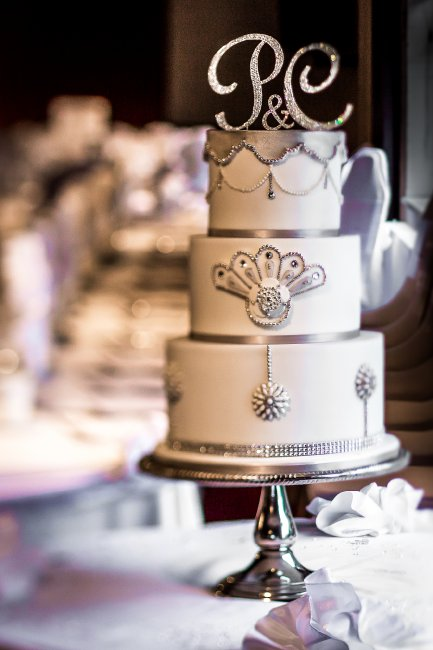 1920's jewel encrusted wedding cake - Cobi & Coco Cakes