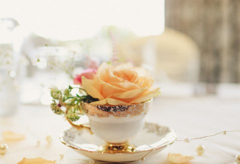 teacup of flowers - The Flower Farm