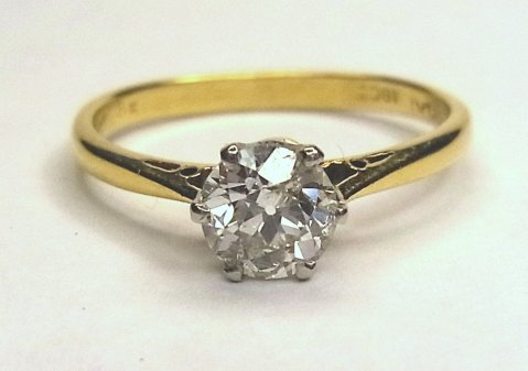 Diamond solitaire ring 0.80 Anchor Mini-certificate F/Si1 £3950 - N.Bloom & Son