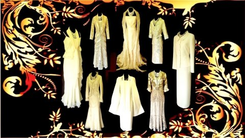 Wedding Outfits in Cream
