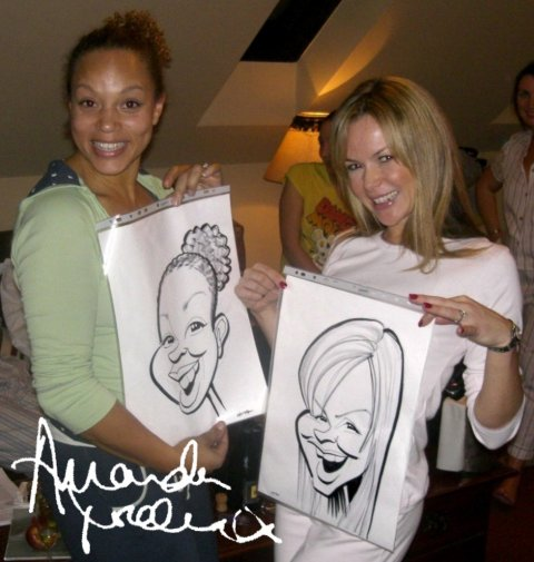 Amanda Holden's hen party - The Wedding Artist