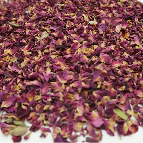 Air-dried Rose Petal Confetti - Wild Red - The Dried Petal Company