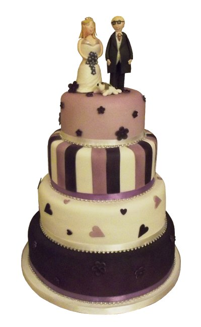 Wedding Cake with personalised topper