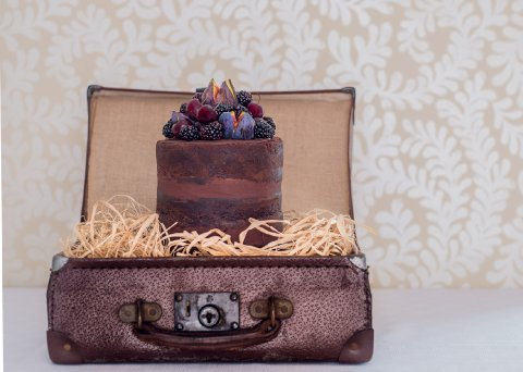 Chocolate and fig naked cake Photo: Sarah Ellen Bailey - The Confetti Cakery