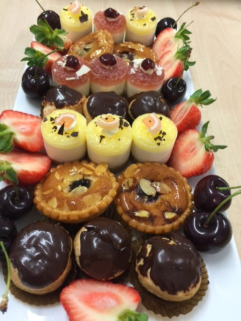 Mini desserts served as a sharing platter - Prestige Bars and Catering Ltd