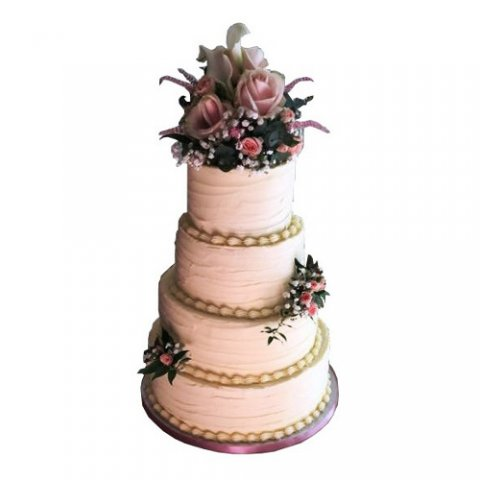Textured Wedding Cake - Cakes Individually Iced