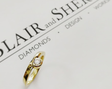 Diamond Engagement Ring - Blair and Sheridan Bespoke Diamond Jewellers