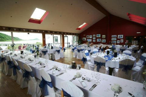 Our Loch View Restaurant set up for a wedding - The Galley of Lorne Inn