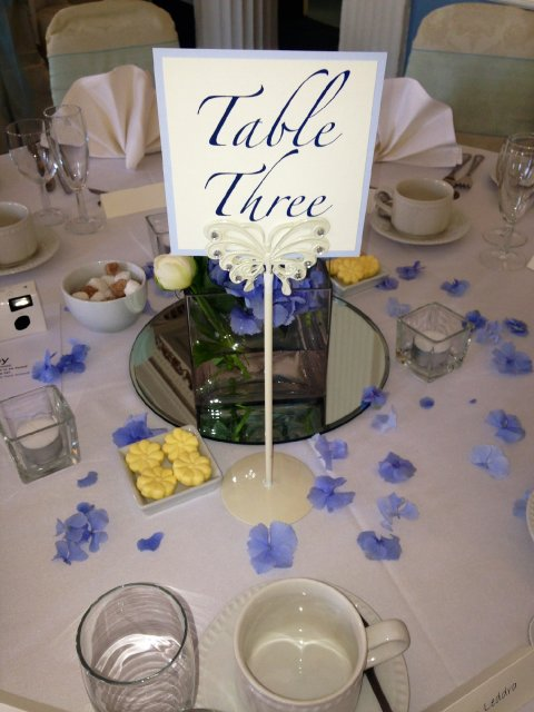 Butterfly Table Number Holder