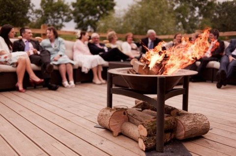 Fire Pit on the Decking - Wick Farm Bath