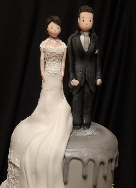 Personalised wedding topper - The Icing Centre