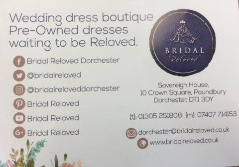 Social Media Pages - Bridal Reloved Dorchester