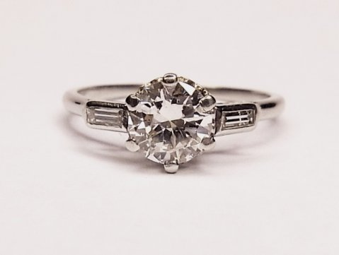 Diamond solitaire ring 0.92ct Anchor mini-cert H/I Si1 £3950 - N.Bloom & Son