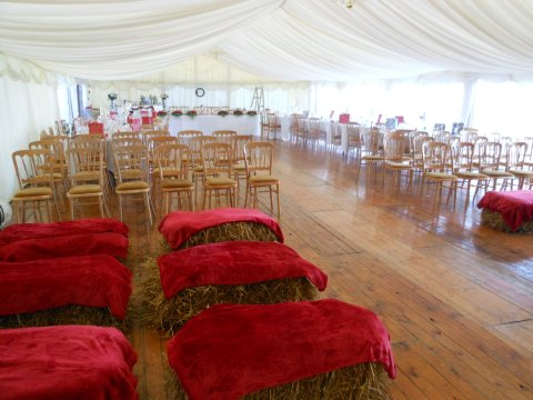 One of our Marquee weddings - Thistle Catering Services