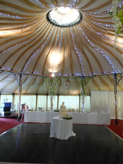 One of our carvery's in a Yurt - Thistle Catering Services