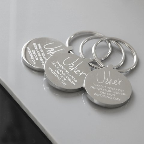 Personalised keyrings for the whole wedding party - a lovely thank you gift - Oh So Cherished Ltd