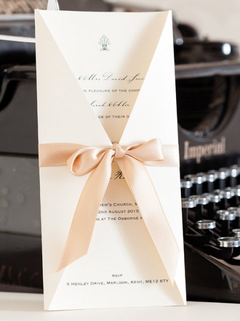 Boxed Artemis Wedding Invitation - The Whole Caboodle Design Ltd
