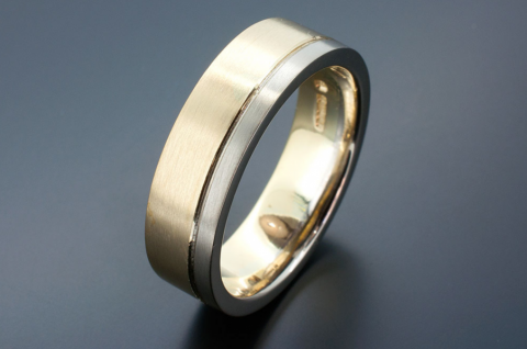 Two-tone wedding band - Blair and Sheridan Bespoke Diamond Jewellers