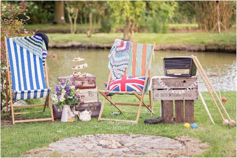 Deck chairs and vintage garden games for hire