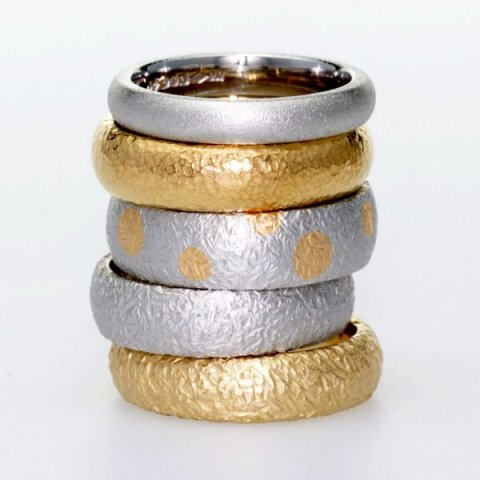 Textured Wedding Rings - Aurum designer-jewellers