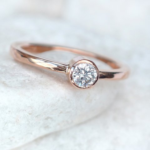 Conflict free Diamond Ring in 18ct Rose Gold - Lilia Nash Jewellery