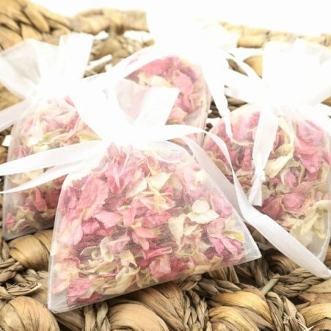 Delphinium & Wildflower in Individual Portion Organza Bags - The Dried Petal Company