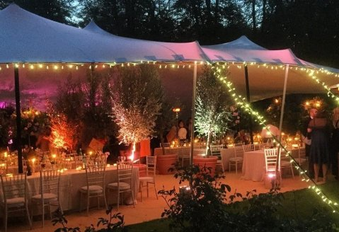 Fairy Lights are a cheap and easy option to make the tent look even better - CGSM Events