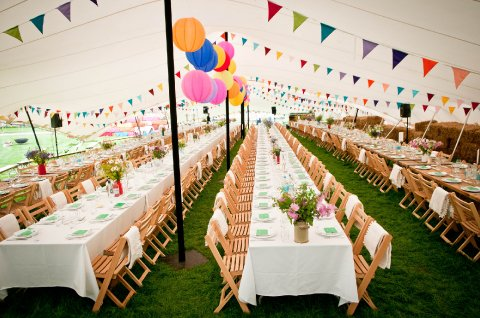 Bunting and Lanterns can add a colourful touch - CGSM Events