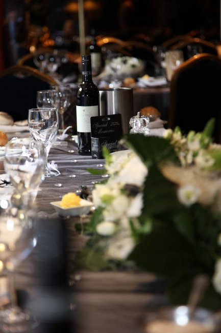 Table details - Greyhound Lutterworth Wedding Reception - The Greyhound Coaching Inn and Hotel
