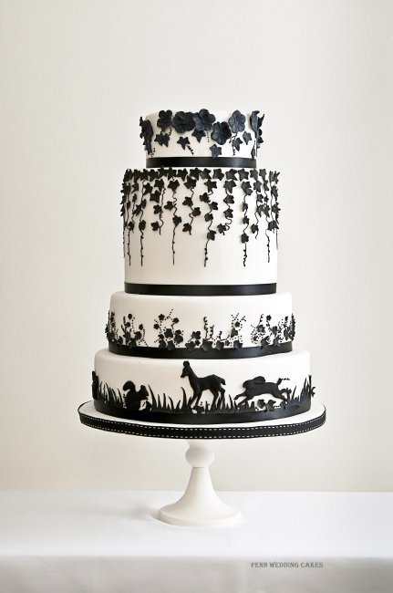 Woodland Theme and Monochrome - Penn Wedding Cakes