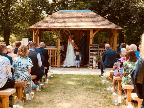 Out door civil ceremony in the Pavilion - The Oak Tree of Peover