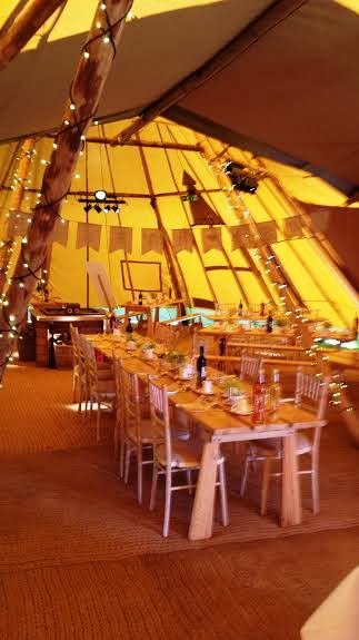 Our wedding in a Tipi - Thistle Catering Services