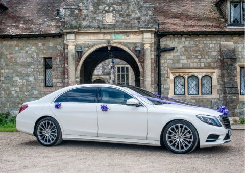 Luxury White S Class Mercedes Wedding Car - Platinum Cars