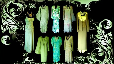 Wedding Outfits in Green